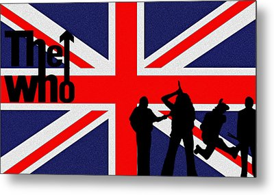 The Who Metal Print by Bill Cannon