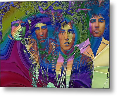 The Who Color Warp Metal Print
