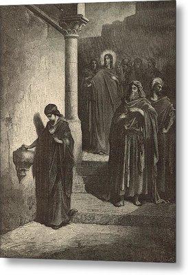 The Widow's Mite Metal Print by Antique Engravings
