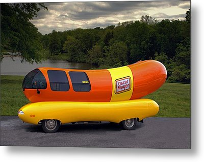 Metal Print featuring the photograph The Wienermobile by Tim McCullough