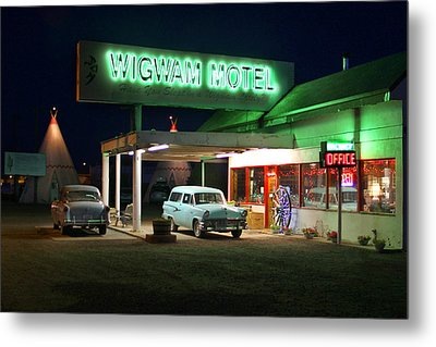 The Wigwam Motel On Route 66 2 Metal Print by Mike McGlothlen
