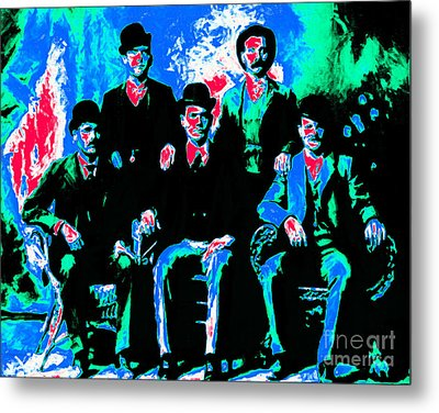 The Wild Bunch 20130212m135 Metal Print by Wingsdomain Art and Photography