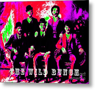 The Wild Bunch With Text 20130212 Metal Print by Wingsdomain Art and Photography