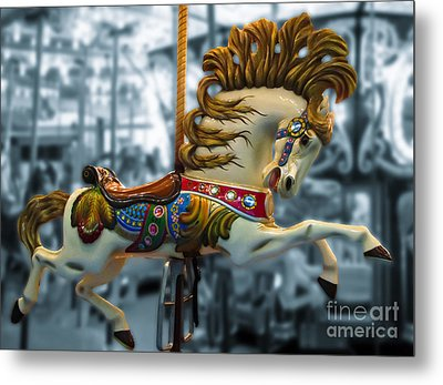 The Wild Stallion Metal Print by Colleen Kammerer