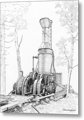 The Willamette Steam Donkey Metal Print