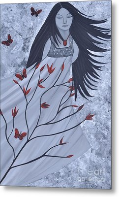 The Wind Of The Spirit Acrylic Painting By Saribelle Rodriguez Metal Print by Saribelle Rodriguez