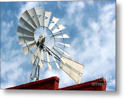 The Wind Wheel Metal Print by Kathy  White