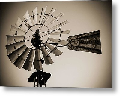 Metal Print featuring the photograph The Windmill by Amber Kresge