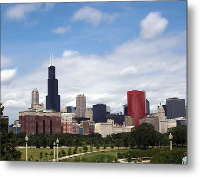 Metal Print featuring the photograph The Windy City by Teresa Schomig