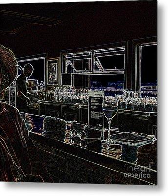 The Wine Bar Metal Print by Connie Fox