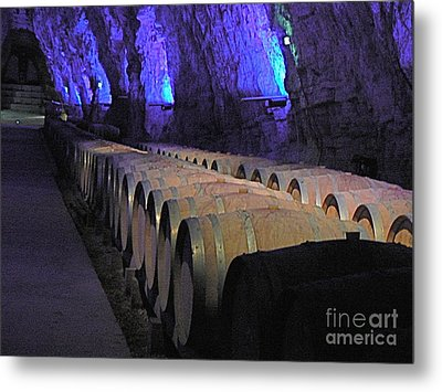 The Wine Cave Metal Print by France  Art