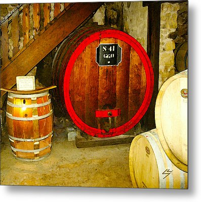 The Wine Cellar Metal Print by Sotiri Catemis