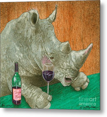 The Wino... Metal Print by Will Bullas