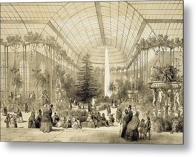 The Winter Garden Metal Print