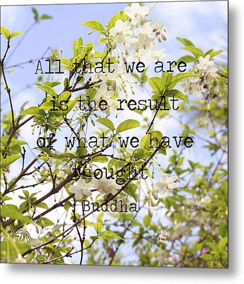 The Wisdom Of Buddha Metal Print by Georgia Fowler