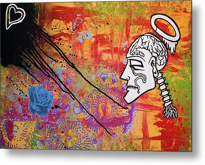 The Wise Man Strays Far From The Heart Metal Print by Bobby Zeik