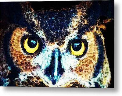 The Wise One - Owl Art By Sharon Cummings Metal Print by Sharon Cummings