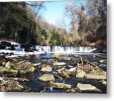 The Wissahickon Creek In February Metal Print by Bill Cannon