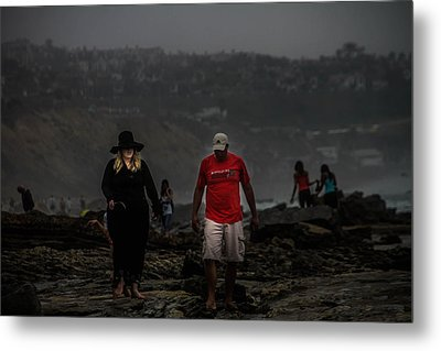 The Witch On The Beach Metal Print by Menachem Ganon