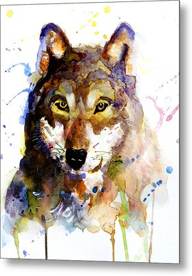 Metal Print featuring the painting The Wolf by Steven Ponsford