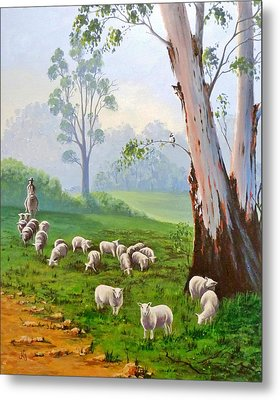 The Wool Road Metal Print by Anne Gardner