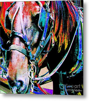 The Working Horse Metal Print