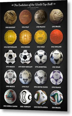 The World Cup Balls Metal Print by Taylan Apukovska