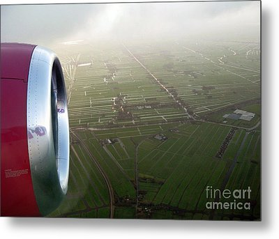 The World From Above. Holland Metal Print by Ausra Huntington nee Paulauskaite