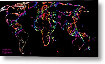The World In The Past Metal Print