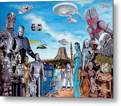 The World Of Sci Fi Metal Print by Tony Banos