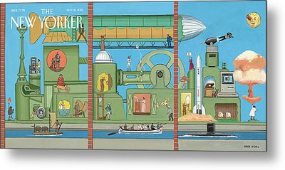 The World Tomorrow Metal Print by Bruce McCall