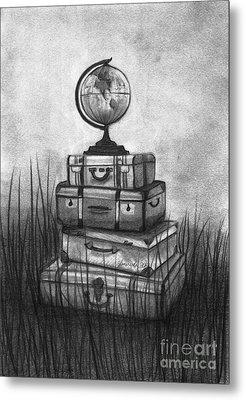Metal Print featuring the drawing The World We Want by J Ferwerda