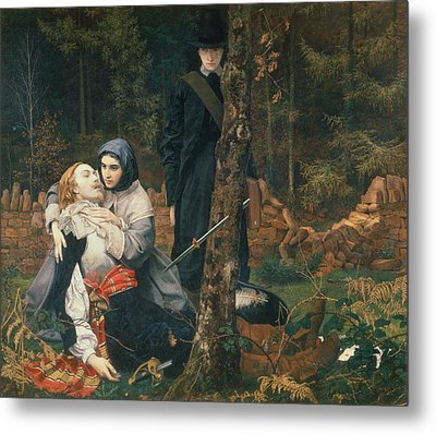 The Wounded Cavalier, 1855 Oil On Canvas Metal Print