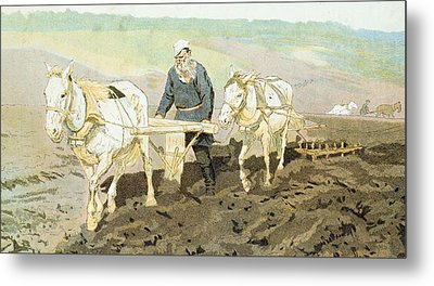 The Writer Lev Nikolaevich Tolstoy Metal Print
