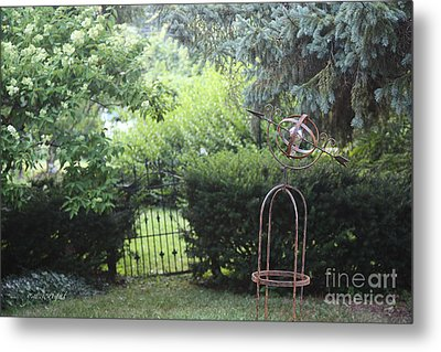 The Wrought Iron Gate Metal Print by Yvonne Wright