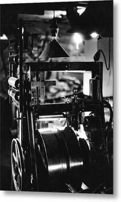 Metal Print featuring the photograph The Yardstick Press by Dennis Bucklin