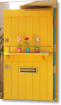 The Yellow Door Metal Print