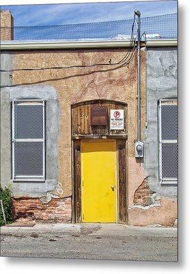The Yellow Door Metal Print by Nikolyn McDonald
