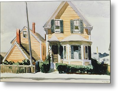 The Yellow House Metal Print by Edward Hopper