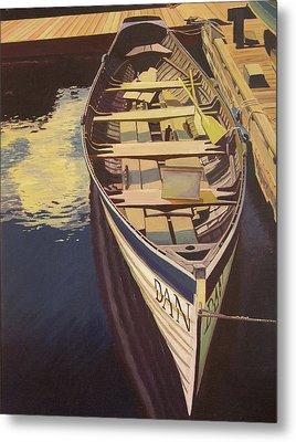 The Yellow Paddle Metal Print by Thu Nguyen