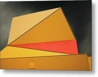 The Yellow Roof Metal Print by Gilbert Claes