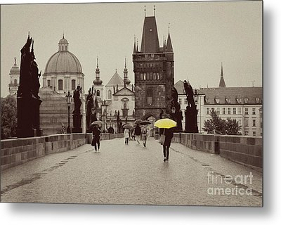 The Yellow Umbrella Metal Print