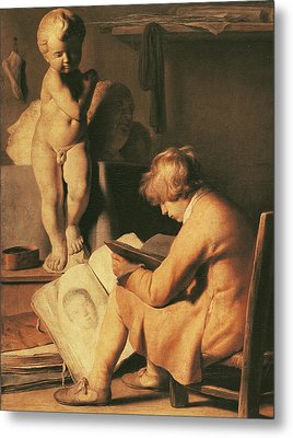 The Young Artist Metal Print by Jan the Elder Lievens