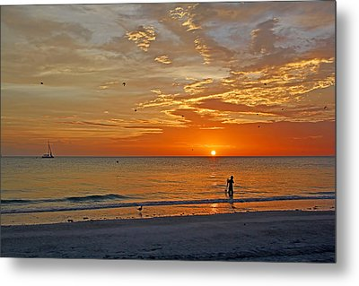 The Young Fisherman Metal Print by HH Photography of Florida