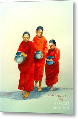 The Young Monks Metal Print