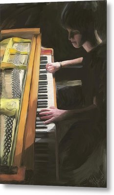 The Young Pianist Metal Print by Michael Malicoat