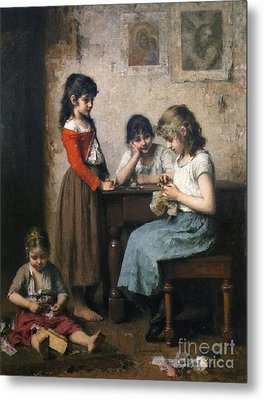 The Young Seamstress Metal Print by Celestial Images