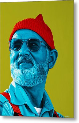 The Zissou- Background Edit Metal Print by Ellen Patton