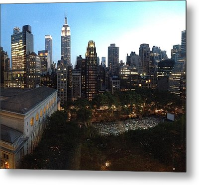 Theater In Bryant Park Metal Print by Kevin Stillman