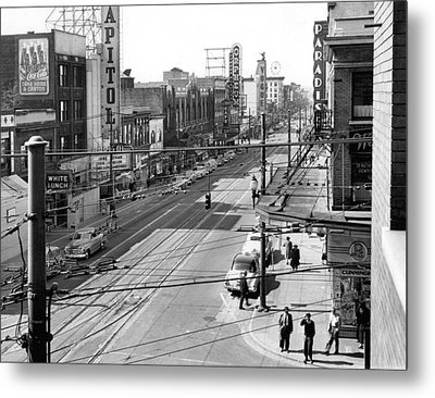 Theater Row - Vancouver Canada - 1951 Metal Print by Daniel Hagerman